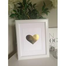 Foil Print Artwork - WHITE HEART