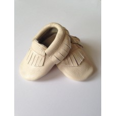 Leather soft sole Moccasins - Almond