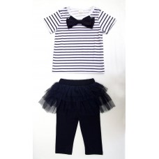 3 piece stripe tutu and legging set