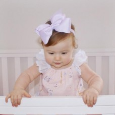 "Large ""Charlotte"" Grosgrain bow headband - Lilac"