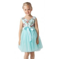 Floral tutu dress - Jewel blue