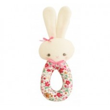 Alimrose floral bunny grab rattle