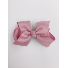 """Audrey"" bow clip - Antique Rose"