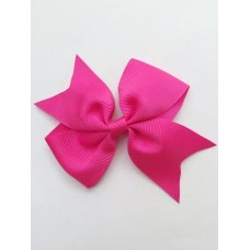 """Dolly"" bow clip - Hot Pink"