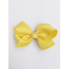 """Audrey"" bow clip - Lemon"