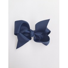"""Audrey"" bow clip - French Navy"