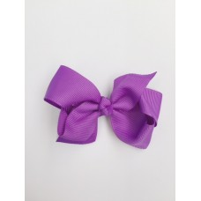 """Audrey"" bow clip - Grape"