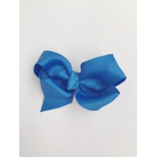 """Audrey"" bow clip - Royal Blue"