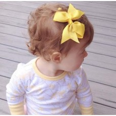 """Dolly"" bow clip - Sunflower"