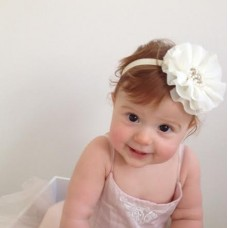 Pearl & Diamante shabby chic headband