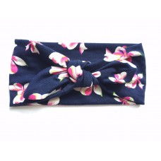 Top knot headband - Orchid print