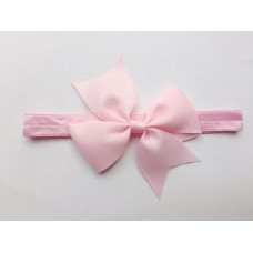 """Coco"" Petite bow headband - Ballet Pink"