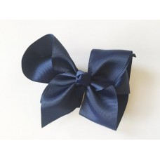 """Isabelle"" grande clip bow - French Navy"