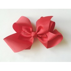 """Isabelle"" grande clip bow - Ruby Red"