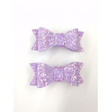 'Jean' Sparkle bow set - Lilac