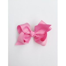 """Audrey"" bow clip - Candy Pink"