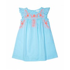 Marnie embroidered Dress - Soft blue