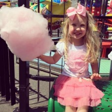 2 piece satin flower tee and tutu set