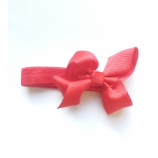 """Belle"" petite bow headband - red"