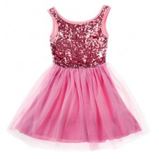 Sequin Tutu Party dress - Fuschia