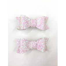 'Jean' Sparkle bow set - Pearl
