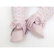 Mosov leather bow moccasins - Pink